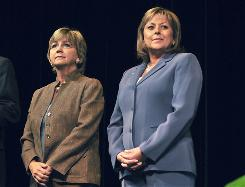 Susana Martinez, right, became New Mexico's first female governor.