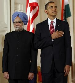 Indian Prime Minister Manmohan Singh, left, visited the White House in November 2009. President Obama will return the favor next week during a visit to New Delhi.