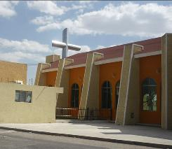 """This photo taken Oct. 20, 2010 shows shows a church  in Pachuca, Mexico where a sign thanks the major donor who built the church, Heriberto Lazcano Lazcano, the leader of the Zetas, one of Mexico's most violent drug cartels. Plaque reads in Spanish: """"Center for Evangelization and Catechism 'Juan Pablo II', donated by Heriberto Lazcano Lazcano, Lord, hear my prayer, listen to my plea. Answer me because you are faithful and righteous..Psalm 143''"""