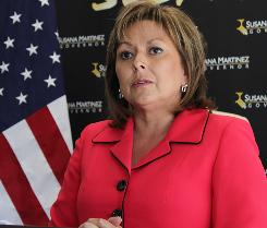 Gov.-elect Susana Martinez answers questions during a news conference at campaign headquarters in Albuquerque on Thursday.