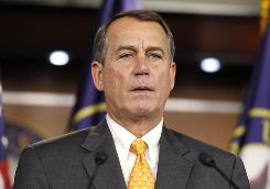 House speaker-in-waiting Rep. John Boehner, R-Ohio, speaks during a news conference on Capitol Hill on Nov. 3.