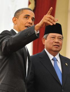 President Obama meets President Susilo Bambang Yudhoyono.