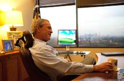 "Former president George W. Bush seems to have lost all appetite for politics. ""I have peace in my heart, I truly do, and I have zero desire to try to battle for reputation,"" he says."