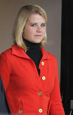 Elizabeth Smart leaves Federal Court Monday after starting her testimony in Salt Lake City, Utah.
