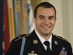 Medal of Honor Army Staff Sgt. Salvatore Giunta rescued two members of his squad in 2007 while fighting in Afghanistan.