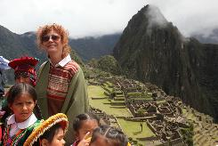 Actress Susan Sarandon is among visitors at Machu Picchu in April, as the Incas' mountaintop city in Peru reopened to tourists after heavy floods.