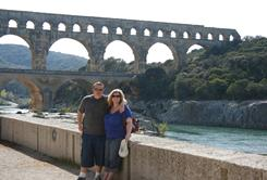 Pete and Alisha Arnold visit southern France's Pont du Gard in an undated photo.  Now, Alisha says she pregnant.