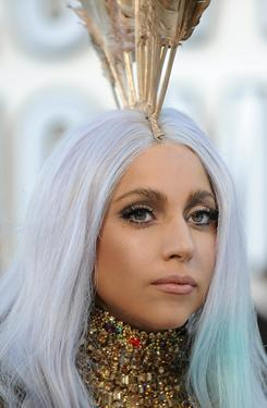 Lady Gaga arrives at the 2010 MTV Video Music Awards in Los Angeles on Sept.12. She is among the celebrities who plan to sign off social media networks until $1 million is raised toward Alicia Keys' charity.