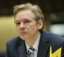 Julian Assange, founder of Wikileaks, attends a meeting of the U.N. Human Rights Council in Geneva on Nov. 5.
