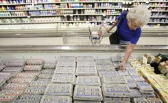 Janet Weaver of Des Moines shops for eggs Aug. 23. A salmonella outbreak sparked a recall of about 550 million eggs.