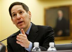 "CDC Director Thomas Frieden, seen here Nov. 2009, called the HIV testing increase over three years ""reasonable,"" but he says the job is far from done."