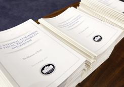 The Debt Commission report is brought out before the panel meets on Capitol Hill on Wednesday.