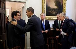 President Obama meets with congressional leaders from both parties on Tuesday at The White House. 