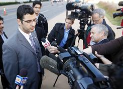 Muneer Awad is challenging an Oklahoma constitutional amendment that bars judges from considering international law in state courts.