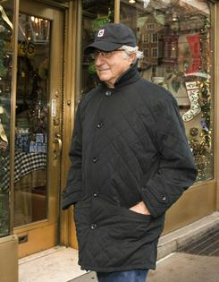 Bernard Madoff walks to his apartment in New York City on Dec. 18, 2008.