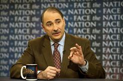 White House senior adviser David Axelrod talks tax cuts with Bob Schieffer on Face the Nation on Sunday in Washington.