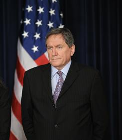 Richard Holbrooke, U.S. special envoy to Afghanistan and Pakistan, listens as President Obama makes a statement on Afghanistan and Pakistan in the White House on March 27, 2009. Holbrooke, 69, died Dec.13, after a career spanning nearly 50 years in U.S. diplomacy,