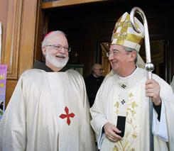 Cardinal Sean O'Malley left, and Dublin's Archbishop Diarmuid Martin, seen outside St Mary's Pro Cathedral in Dublin on Nov. 14.