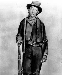 This ferrotype is said to depict William Bonney, aka Billy the Kid, who may be on the verge of a posthumous pardon.