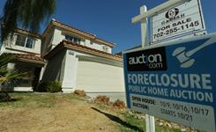 A house under foreclosure was set to be auctioned in October in Las Vegas. Nevada has the highest home foreclosure rate in the USA.
