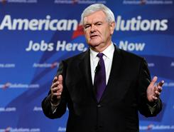 Newt Gingrich predicts the debate over protecting American exceptionalism will be &quot;one of the two or three deciding issues&quot; of the 2012 presidential race. He called Obama's comments &quot;disastrous.&quot;