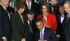 President Obama signs legislation repealing military policy law during a ceremony Wednesday in Washington, D.C.