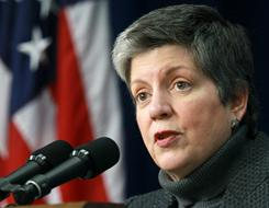 Homeland Security Secretary Janet Napolitano said security is stepped up during the holiday season.