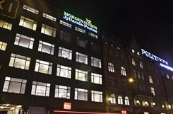 Building that houses the Jyllands-Posten daily newspaper in Copenhagen.