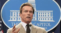 Gov. Arnold Schwarzenegger, seen here during a news conference in Sacramento, Calif., on Dec. 6, issued commutations on his last full day in office on Sunday.