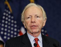 """The country faces enormous problems,"" Sen. Joseph Lieberman, I-Conn., says. ""Bipartisanship is necessary if we're going to get anything done."""