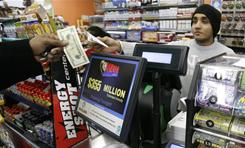 Mega Million tickets are sold at the Fuel On Convenience store in Pittsburgh on Tuesday evening.
