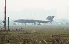 A prototype of the Chinese J-20 stealth plane is seen during a runway test in Chengdu, southwest China.