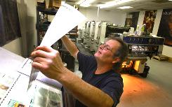 """James Scott says the printing industry """"is flooded with people looking for jobs."""""""