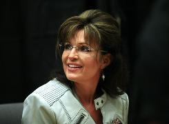 Former Alaska governor Sarah Palin kicks off her book tour in Phoenix, Ariz., on Nov. 23, 2010.
