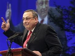 "Maine's governor Paul LePage said a group could ""kiss my butt"" after criticizing him for not attending a King Day event."