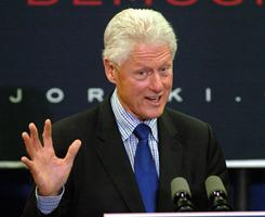 Former president Bill Clinton is scheduled to appear with Emanuel at the Chicago Cultural Center Tuesday morning.