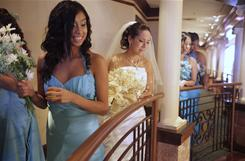 "Bride Paulita Flores, middle, prepares for her wedding at the Community Life Center in Indianapolis on Dec. 4. ""I fell in love (with the center) and thought it was the perfect place,"" she says."