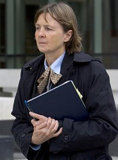 Judy Clarke leaves the federal building in Boise in this 2007 photo. Clarke, now the attorney for a 22-year-old loner accused of trying to assassinate U.S Rep. Gabrielle Giffords, has a low-key style and a record of saving high-profile clients from the death penalty.