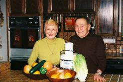 Jack and Elaine LaLanne pose in a family photo. The fitness guru died Sunday at age 96.