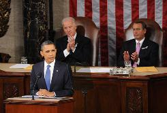 President Obama delivers his State of the Union address before a joint session of Congress Tuesday night.