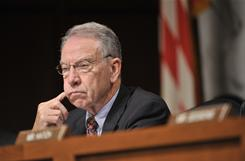 Sen. Charles Grassley, R-Iowa, says he has information that guns used in a December attack were traced to an ATF sting.