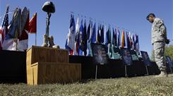 A memorial commemorates the tragedy at Fort Hood, the worst mass shooting on a U.S. military base.