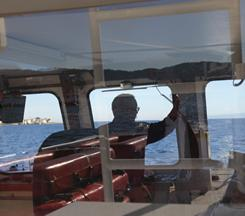 Captain Leon Oliver pilots the Princess Monterey out to sea for a whale watching tour Wednesday in the Monterey Bay.