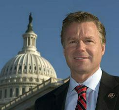Rep. Chris Lee, R-N.Y., poses in front of the Capitol building in Washington, D.C.