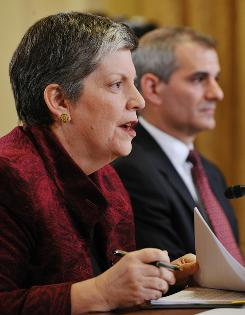 Homeland Security Secretary Janet Napolitano testifies before the House Committee on Homeland Security Wednesday on Capitol Hill.