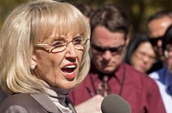 Arizona Gov. Jan Brewer announced Thursday that the state is filing a countersuit to the U.S. Department of Justice on immigration issues.