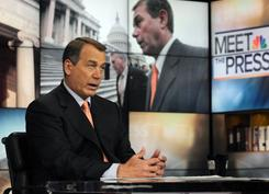 House Speaker Rep. John Boehner, R-Ohio, speaks about the 2012 budget on NBC's 'Meet the Press' on Sunday.