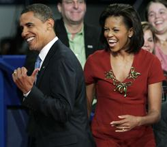 President Obama and wife Michelle, married 19 years and counting, share a laugh in Nashville