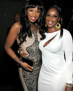 Singers Jennifer Hudson and Mary J. Blige attend the 2011 Pre-Grammy Gala.