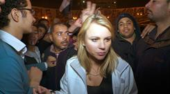 '60 Minutes' correspondent Lara Logan covering the Egypt revolution on Feb. 11, the day she was separated from her crew in Tahrir Square and was sexually assaulted and beaten.